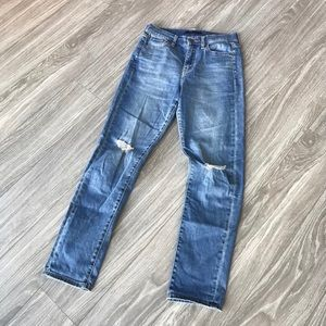 Uniqlo ripped knee Skinny Jeans Size 26